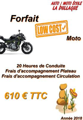 Forfait Permis A2 20 heures - Low Cost