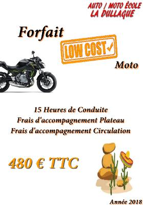 Forfait Permis A2 15 heures - Low Cost